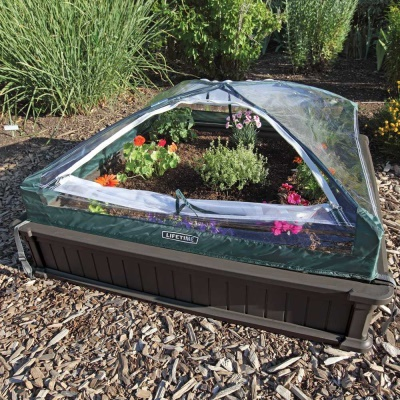 Raised Garden Bed Kit (2 Beds, 1 Vinyl Enclosure), image 4