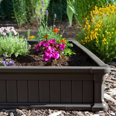 Raised Garden Bed Kit (2 Beds, 1 Vinyl Enclosure), image 5