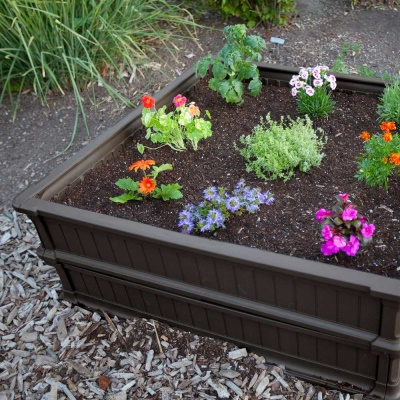 Raised Garden Bed Kit (2 Beds, 1 Vinyl Enclosure), image 6