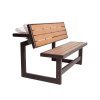 Exceptional Faux Wood Convertible Bench