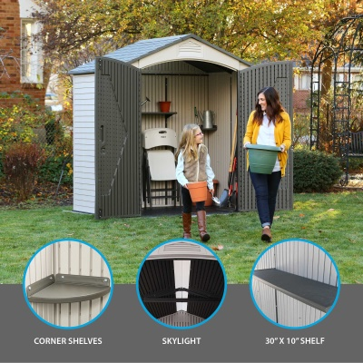 7 x 45 ft outdoor storage shed