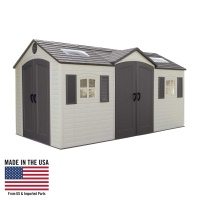 15 x 8 ft Outdoor Storage Shed (Dual Entry)
