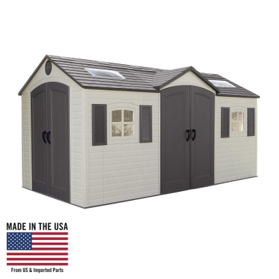 15 x 8 ft Outdoor Storage Shed (Dual Entry), image 1