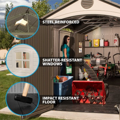 15 x 8 ft Outdoor Storage Shed (Dual Entry), image 5