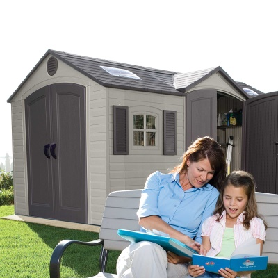 15 x 8 ft Outdoor Storage Shed (Dual Entry), image 7
