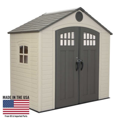 Lifetime 8 x 5 ft Outdoor Storage Shed with Window, image 1