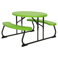 childrens oval picnic table lime green