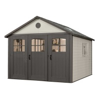 11 x 11 ft Outdoor Storage Shed with Tri-Fold Doors