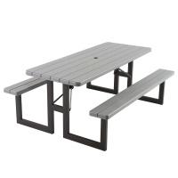 6foot craftsman picnic table gray