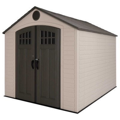 Lifetime 8ft x 10 ft Outdoor Storage Shed (Windows in Doors), image 3