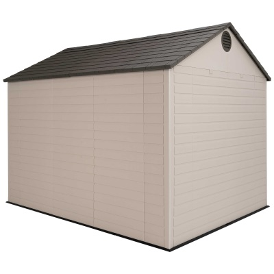 Lifetime 8ft x 10 ft Outdoor Storage Shed (Windows in Doors), image 5