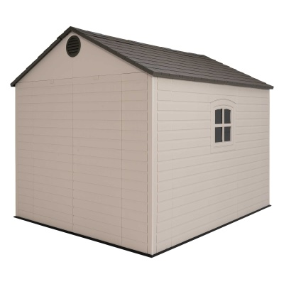 Lifetime 8ft x 10 ft Outdoor Storage Shed (Windows in Doors), image 7