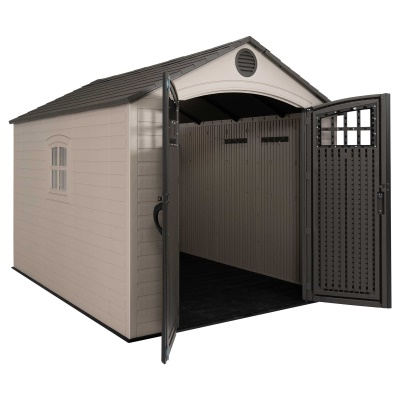 Lifetime 8ft x 10 ft Outdoor Storage Shed (Windows in Doors), image 9