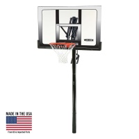 In-Ground Clear 52 in. Square Shatter Proof Basketball System with Slam-It Rim