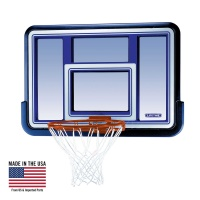 Lifetime 44 in. Shatter-Proof Black Fusion Basketball Backboard with Slam-It Rim