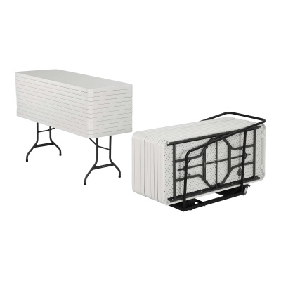 6 ft. table 22 Pack and Cart White, image 1