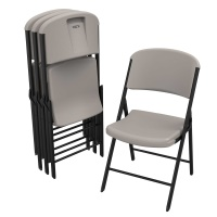 Commercial Contoured Folding Chair 4 Pack (Putty)