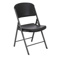 Commercial Contoured Folding Chair 4 Pack (Black)