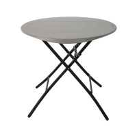 33 in. Round Folding Table (Putty)