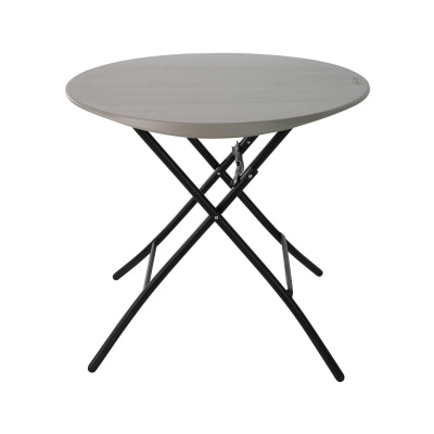 33 in. Round Folding Table (Putty), image 1