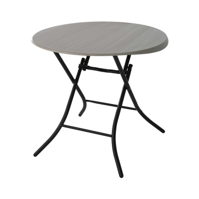 33 in. Round Folding Table (Putty), image 2