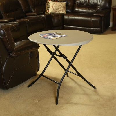 33 in. Round Folding Table (Putty), image 8