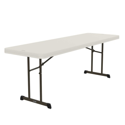 8 ft Professional Grade Folding Table (Almond), image 1