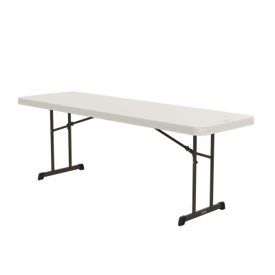 8 ft Professional Grade Folding Table (Almond), image 3