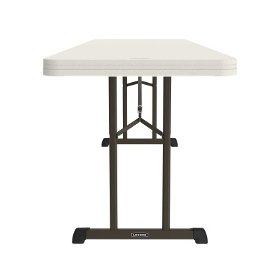 8 ft Professional Grade Folding Table (Almond), image 4