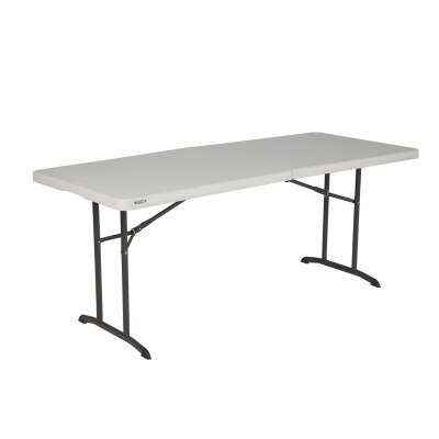 6 ft. Commercial Fold-In-Half Table 6 Pack Almond, image 1