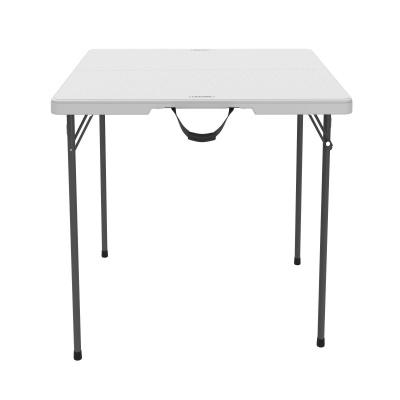 Fold In Half Card Table (White Granite)