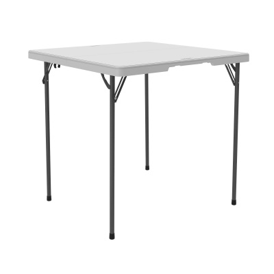 Fold In Half Card Table (White Granite), Image ...