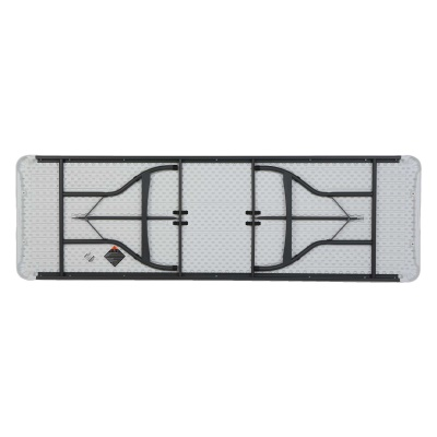 8 Ft Commercial Stacking Folding Table 27 Pack (White Granite), image 11