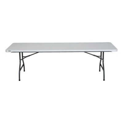 8 Ft Commercial Stacking Folding Table 27 Pack (White Granite), image 10