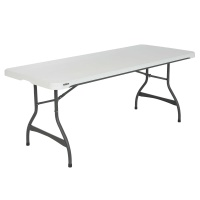 6-Foot Commercial Stacking Folding Table (White Granite)