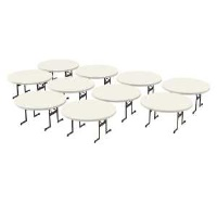 Professional 60 inch Round Table 12 Pack (Almond)