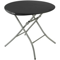 Lifetime 33 in. Round Folding Table (black)