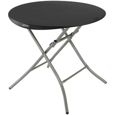 Lifetime 33 in. Round Folding Table (black), image 1