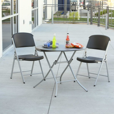 Lifetime 33 in. Round Folding Table (black), image 9