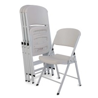 Commercial Contoured Folding Chair 4 Pack (White)