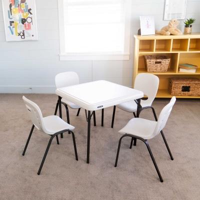 Childrenu0027s Square Folding Table 42 Pack (Almond), ...