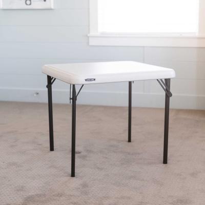 square folding table almond