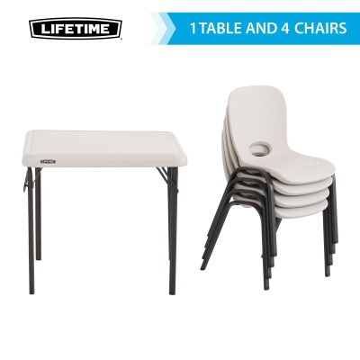 Children's Table and Chairs Combo  (Almond), image 2