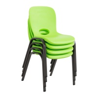stacking chair 4pack lime green