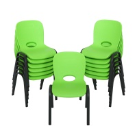 stacking chair 13pack lime green