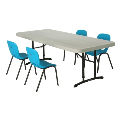 Children's Chair and Table Combo  (Glacier Blue Chairs, Almond Table), image 2