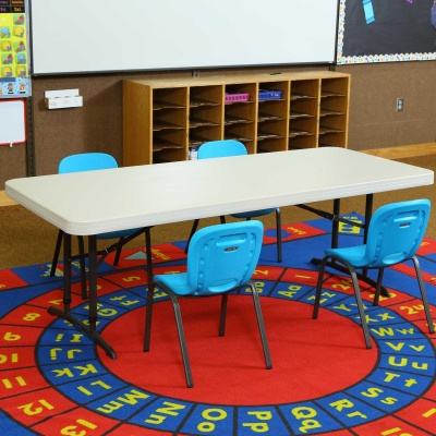 Children's Chair and Table Combo  (Glacier Blue Chairs, Almond Table), image 5