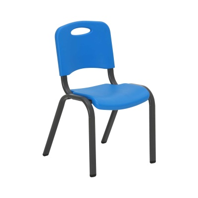 Commercial Children's Stacking Chair 4-Pack (Dragonfly Blue), image 5