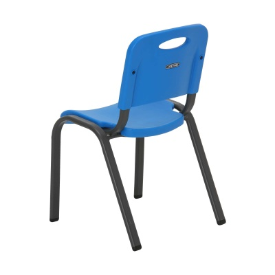 Commercial Children's Stacking Chair 4-Pack (Dragonfly Blue), image 7