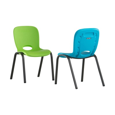 Children's Table and Chairs Combo  (Glacier Blue Chair, Lime Green Chair, Almond Table), image 2